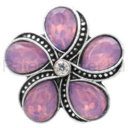 ötszirmú lila virág fémpatent