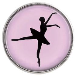 Rózsaszín balettáncos patent