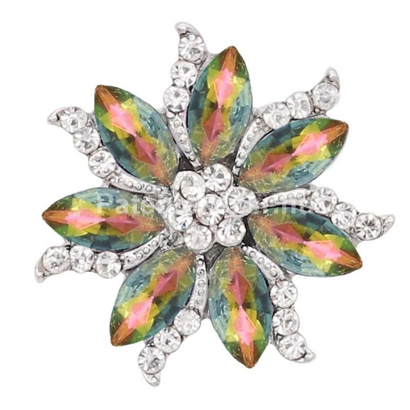 Irizáló virágos fémpatent több színben