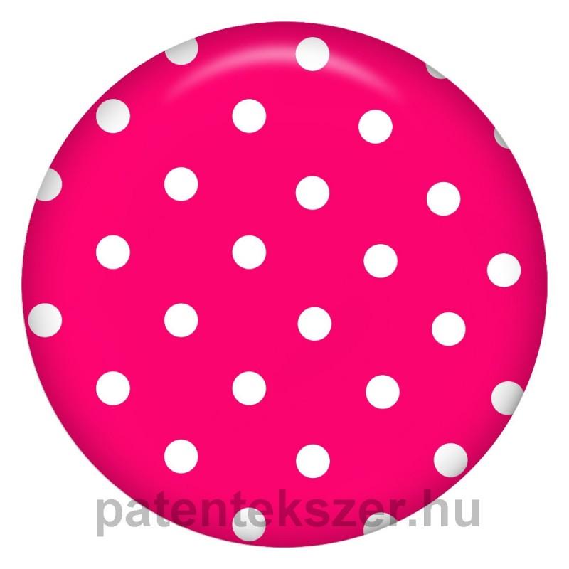 Pöttyös rózsaszín porcelánpatent