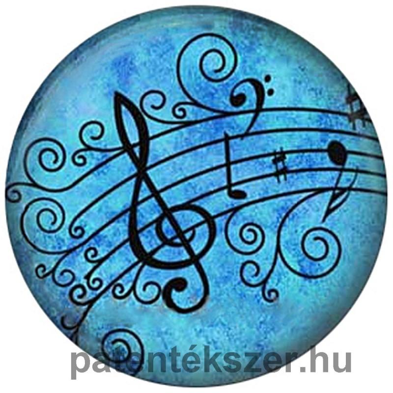 Kék kottás porcelánpatent
