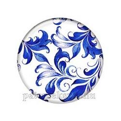 Kék indás porcelánpatent
