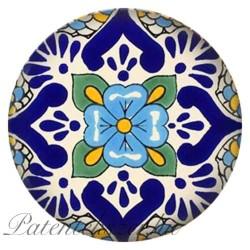Kék virágos porcelánpatent
