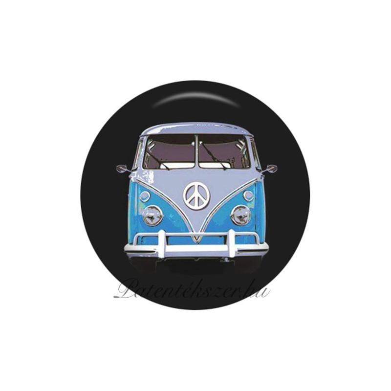 Hippibusz (Volkswagen T1 transzporter) porcelánpatent
