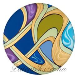 Szecessziós kék utas porcelánpatent