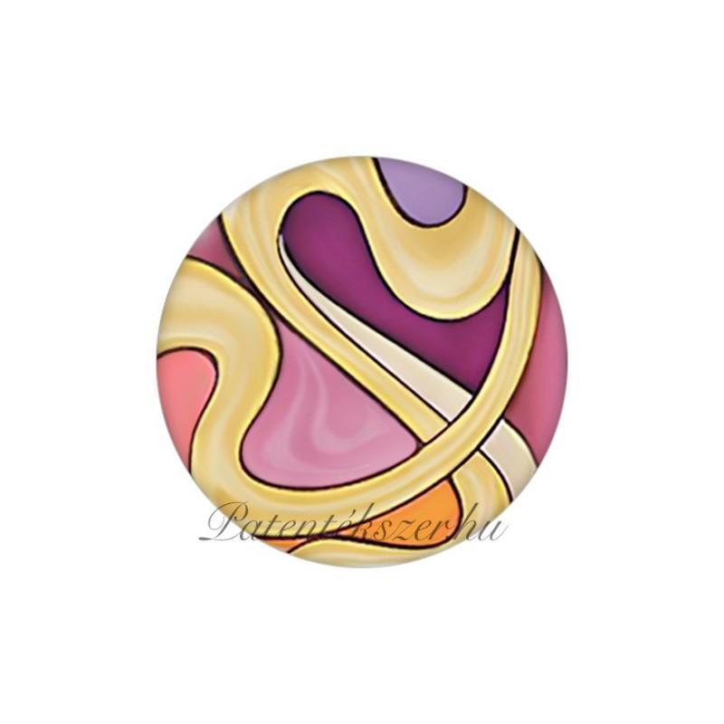 Szecessziós színes utas porcelánpatent
