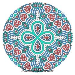 Kék Mandalás Porcelán Patent