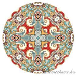 Piros-Kék Mandalás Porcelán Patent