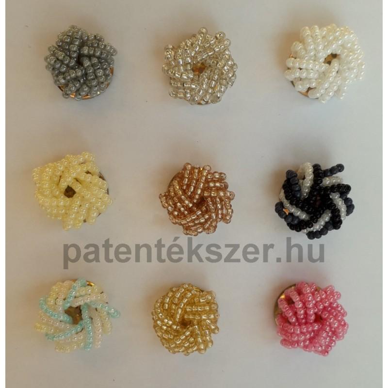 Csavart gyöngyös patent többféle színben